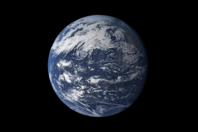 Viewed from space, the most striking feature of our planet is the water. In both liquid and frozen form, it covers 75% of the Earth's surface. It fills the sky with clouds. Water is practically everywhere on Earth, from inside the rocky crust to inside our cells. This detailed, photo-like view of Earth is based largely on observations from the Moderate Resolution Imaging Spectroradiometer (MODIS) on NASA's Terra satellite. Caption/Credit: NASA image by Robert Simmon and Marit Jentoft-Nilsen, based on MODIS data.