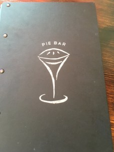 The Pie Bar menu.