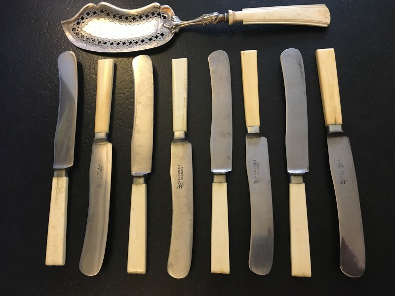 Ivory handled knife set banned