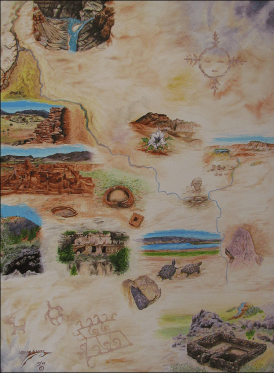 Counter-mapping, cartography, Zuni, Colorado River, Larson Gasper