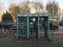 these phone booths would make an excellent album cover