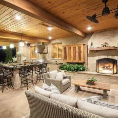 Patio Kitchen Dividers Cabinets Outdoor Kitchens And Patios Champion Property Improvement Fireplace