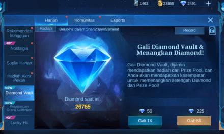 Event Diamond Vault Mobile Legends 2021 Hadir Lagi