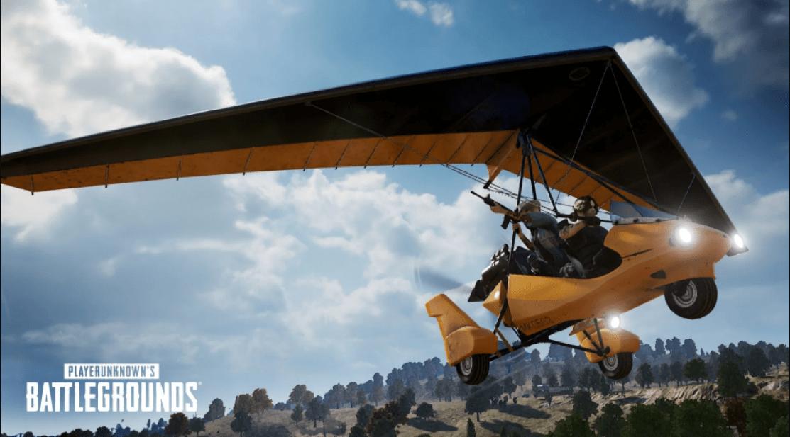 Motor Glider PUBG Mobile Akan Segera datang di Update Patch 1.3