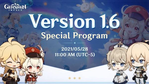 Genshin Impact 1.6 Livestream Ungkapkan Hal Baru