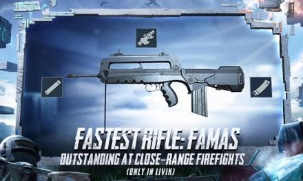 Senjata Famas PUBG Mobile, Lokasi dan Attachment Terbaik