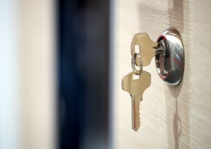 Keys in the door of a property for sale in championsgate florida