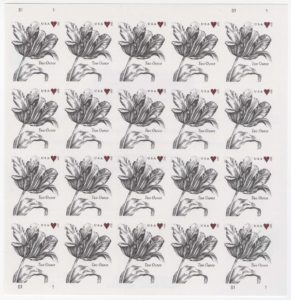 5002 (FOREVER TWO OUNCE) Sheet of 20, Vintage Tulip