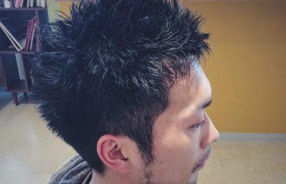 メンズ刈り上げショートヘア 吹越 広彬, Fukikoshi Hiroaki, champs des lilas, シャンデリラ,三沢市,松園町,美容室