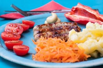 Sausage and Potato Omelet