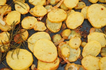 Roasted  New Potatoes With Lemon Horseradish