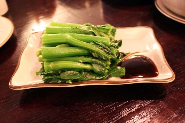 brocoli chinois à la sauce d'huître