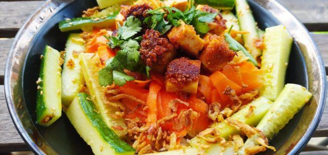 salade tofu croustillant