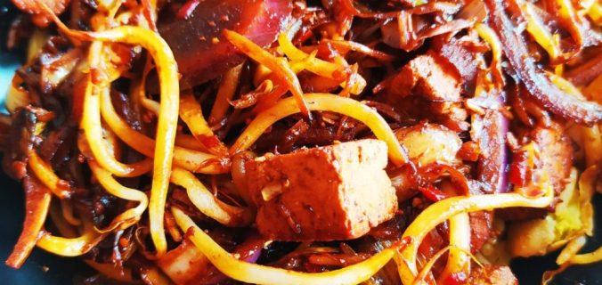 wok tofu cacahuètes