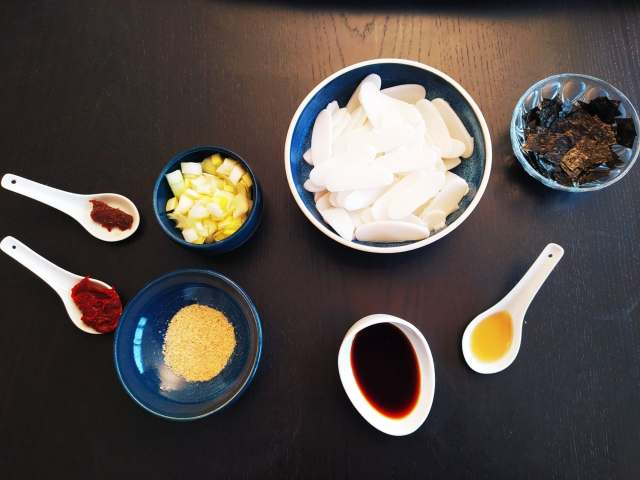 ingrédients soupe coréenne tteok