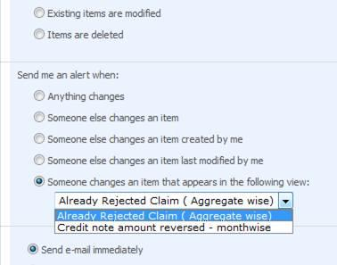 Not able to set Alerts for some views in SharePoint list (2/2)