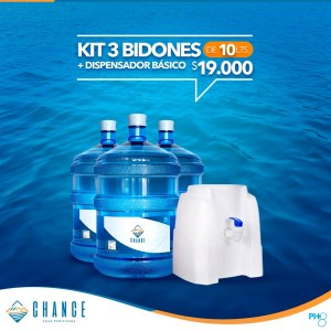 Kit 3 bid 10L + disp básico