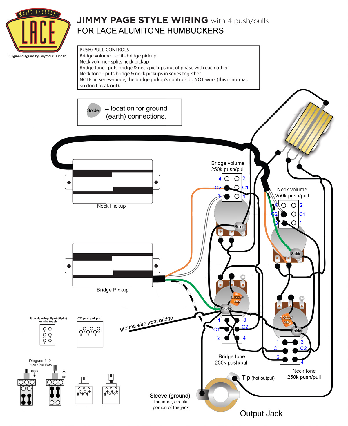 Lace Pickup Wiring
