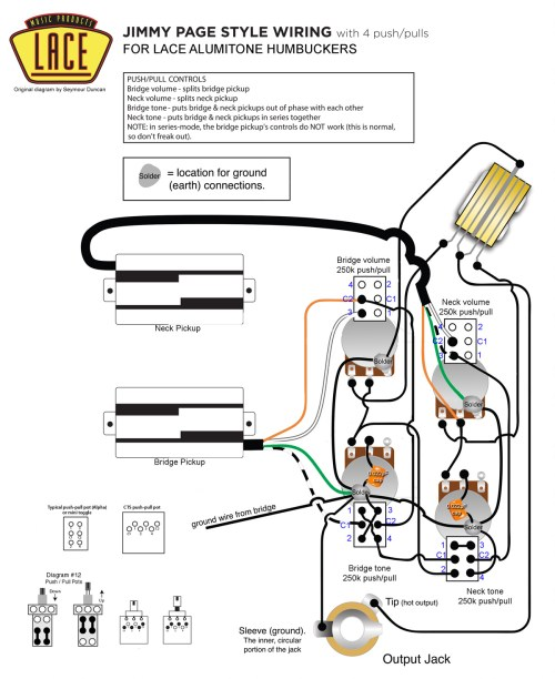 small resolution of jimmy page wiring with lace alumitone pickups my les paul forum rh mylespaul com split coil circuit diagram dual humbucker wiring diagram