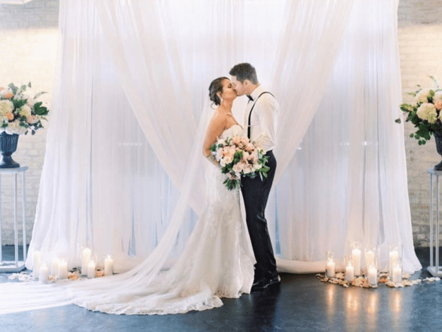 Chance Productions - The Black Swan - Milwaukee, WI wedding, rental, pipe and drape, backdrop, decor, ceremony
