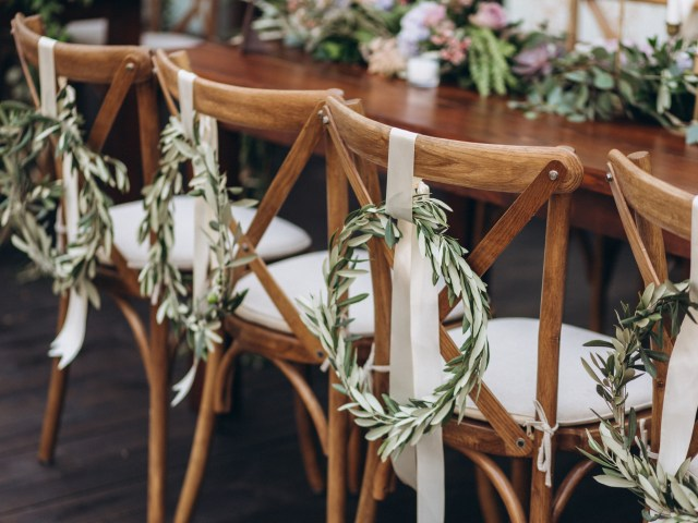 Chance Productions - Private Residence - Lake Geneva, WI french country wood cross back chairs, wedding, rentals