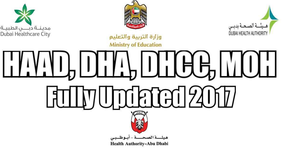 HAAD, DHA, DHCC, and MOH Exam Pattern [2018 Fully Updated]