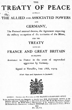 The Treaty of Versailles  chandlers blog