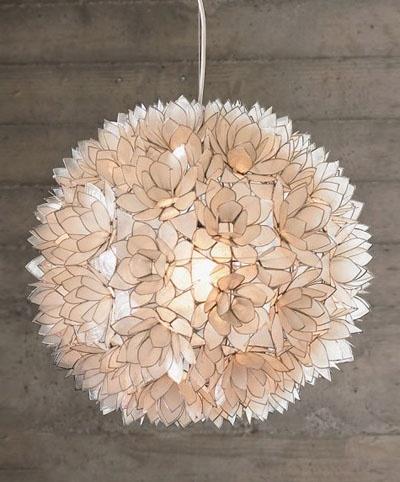 capiz shell pendant light by robles
