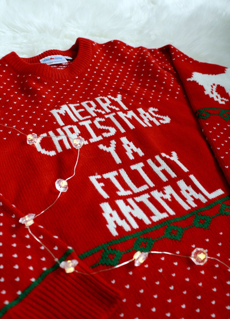Cute Christmas Sweaters - Home Alone's Merry Christmas Ya Filthy Animal