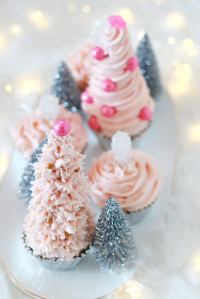 Glam Christmas Xmas Decorations Holiday Food Toppers Christmas Party Cupcake Decorations Glitter Pastel Christmas Cupcake Toppers