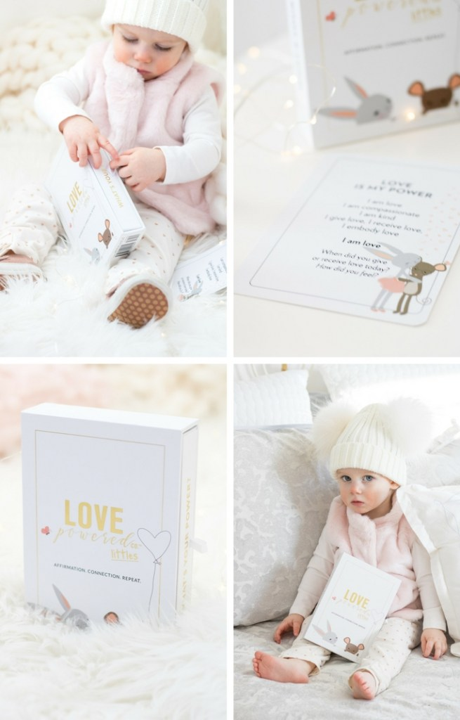 Love Powered Littles box set with affirmation cards to help little ones strengthen their feelings of self-worth, self-love and self-confidence