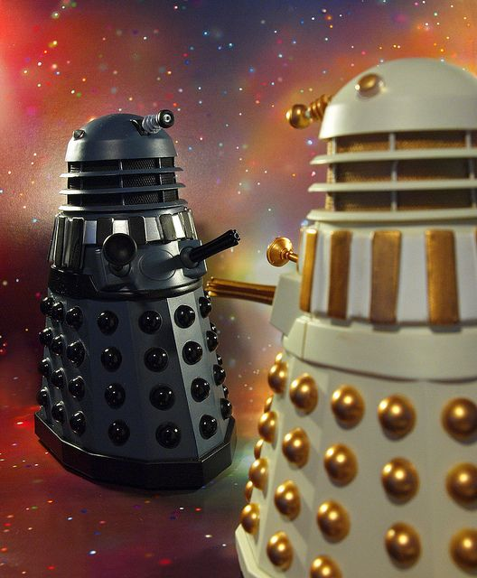 "Dalek Civil War by <a href=""https://www.flickr.com/photos/54459164@N00/5195880804"">Johnson Cameraface </a> via Flickr."