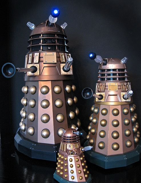 "Daleks Three by <a href=""https://www.flickr.com/photos/54459164@N00/2623728853""> Johnson Cameraface</a> by Flickr."