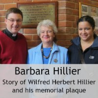 Barbara Hillier: Story of My Great Uncle Wilfred Herbert Hillier and His Memorial Plaque