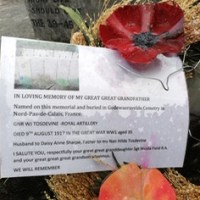 Chandler's Ford War Memorial - In Loving Memory of William Joseph Tosdevine