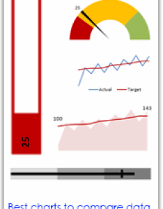 Best charts to compare actual values with targets  what is your take also or budgets rh chandoo