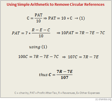 Remove or Avoid Circular References using Better Formulas