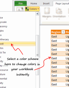 Use color schemes to change formatting quickly also tips make you  pro chandoo learn excel rh