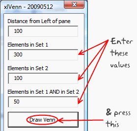 Venn Diagrams in Microsoft Excel using VBA, Add-ins