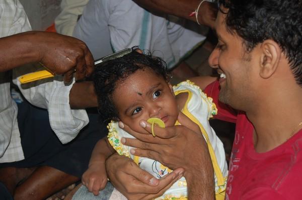 Nakshatra getting tonsured