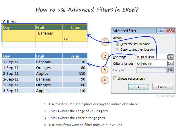 Advanced Filter Settings & Using it - Example