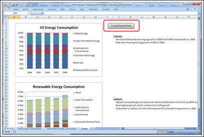 Excel to PowerPoint using VBA - Step 7