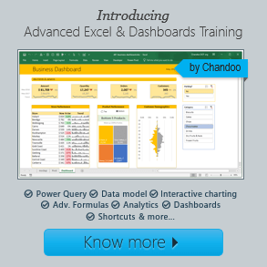 Advanced Excel & Dashboards training - Excel School is here