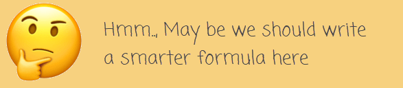 may be the formula needs to be smarter....