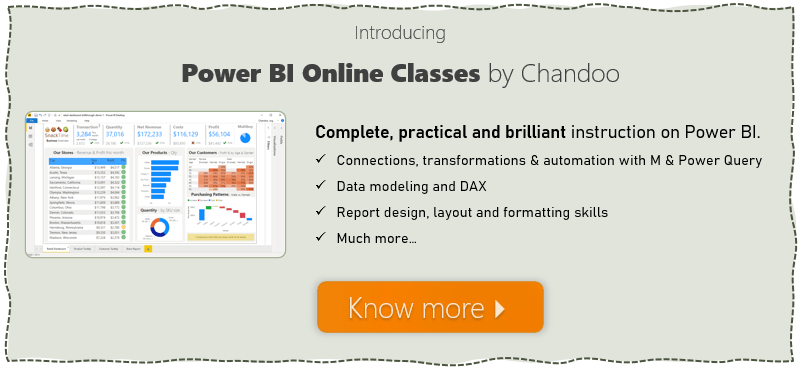 Introducing Power BI Play Date - Online Power BI classes by Chandoo