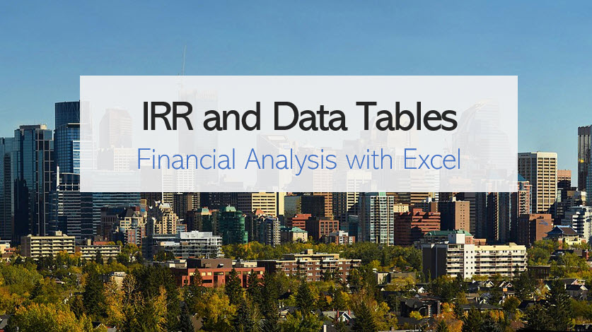 IRR and data tables in Excel