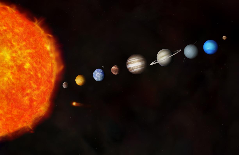 hight resolution of solar system