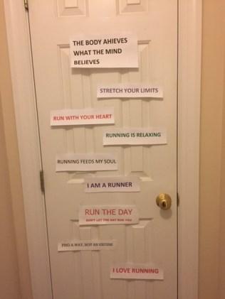 The beginning of my motivation door.