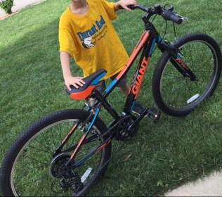 Ethan's first real mountain bike!