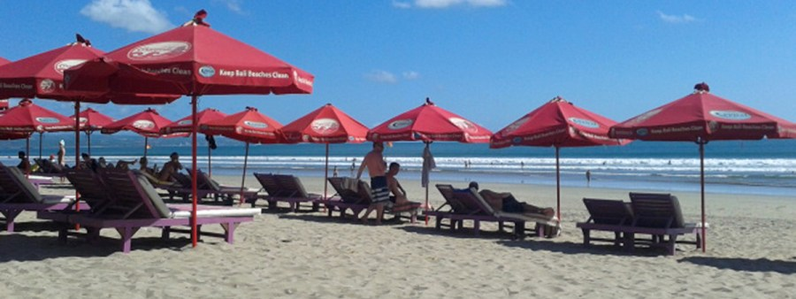 Sunbeds, Legain beach, Bali